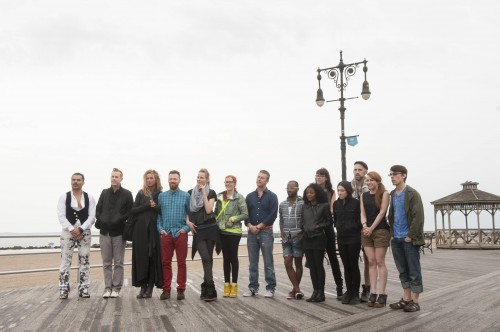 Designers on Coney Island Boardwalk