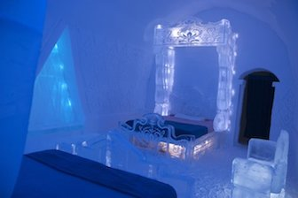 Frozen Ice Hotel Suite